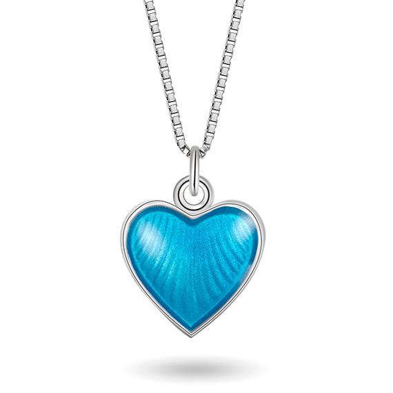 Halskjede i sølv – turkis hjerte