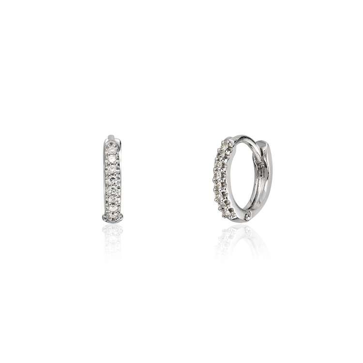 Diamantørepynt 0,053ct i hvitt gull