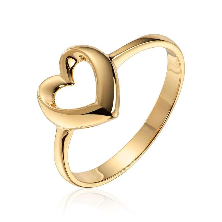 Ring hjerte gull 585