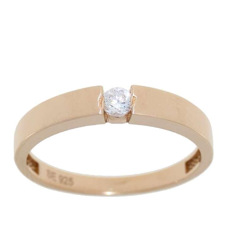 Alva ring rosè Cz 925