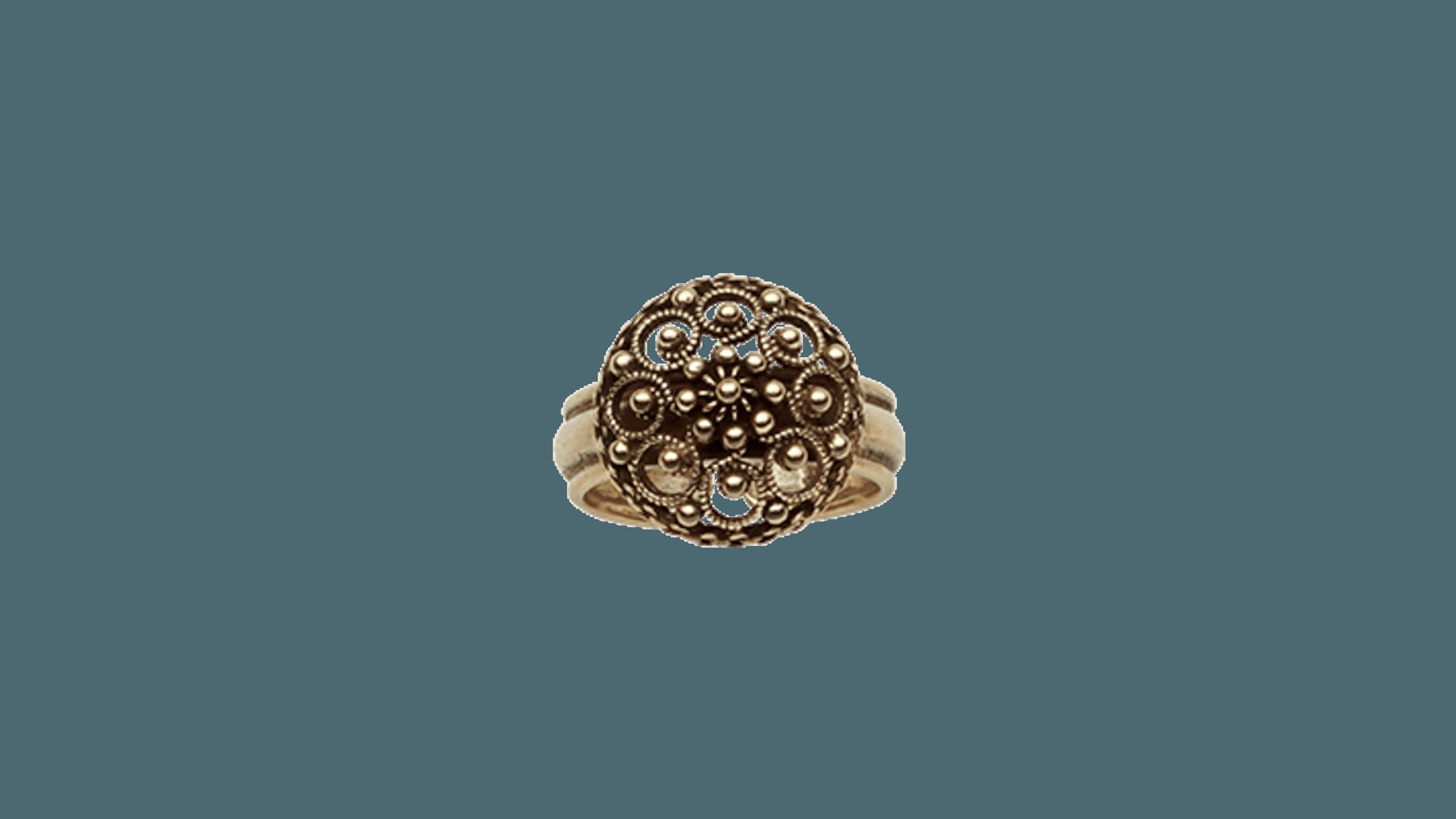 Ring, gammelforgylt Telemark