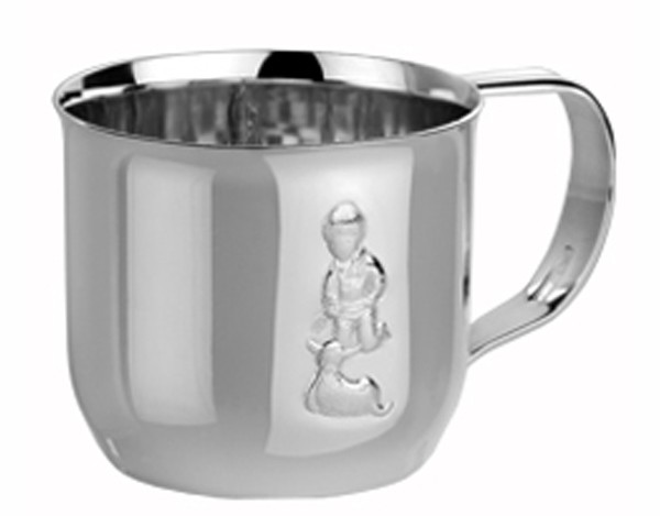 Bæ-bæ gutt - sølvkrus