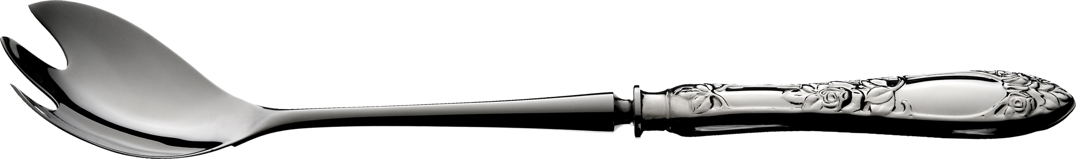 Salatgaffel med stålklinge, Opphøiet rose sølvbestikk