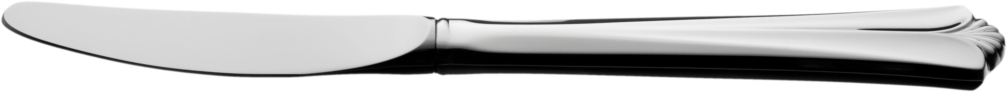 Liten spisekniv med langt skaft, Rådhus vifte sølvbestikk